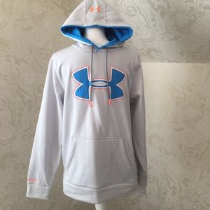 Under Armour Men's Sweatshirt small grey and teal